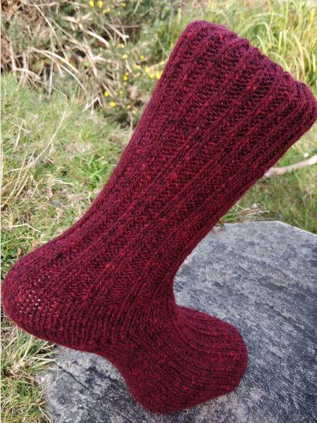 burgundy-walking-socks-glen-river-knitwear-donegal