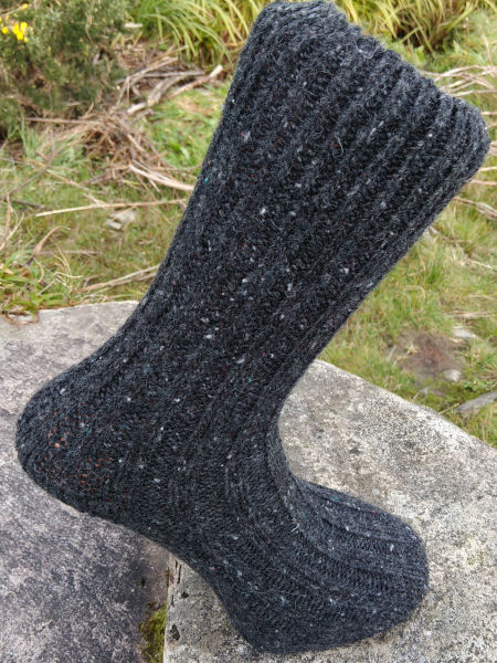 charcoal-walking-socks-glen-river-knitwear-donegal