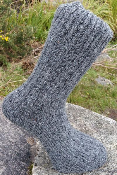 dark-grey-walking-socks-glen-river-knitwear-donegal