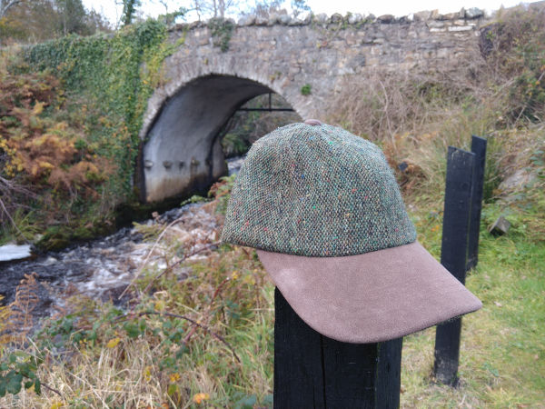 green-pepper-donegal-tweed- baseball-leather-peek-hat