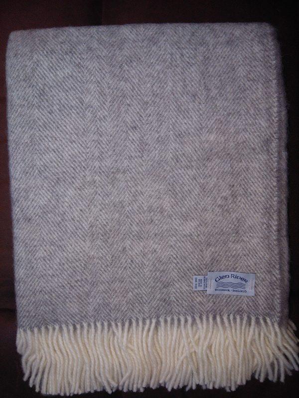 grey-herringbone-mix-throw-glen-river-knitwear