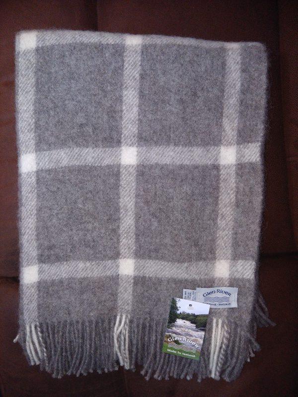 natural-grey-block-mix-Classic-check-throw-glen-river-knitwaer-donegal