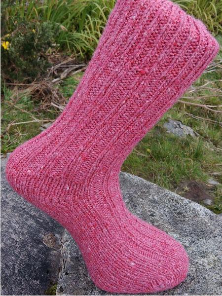 pink-walking-socks-glen-river-knitwear-donegal