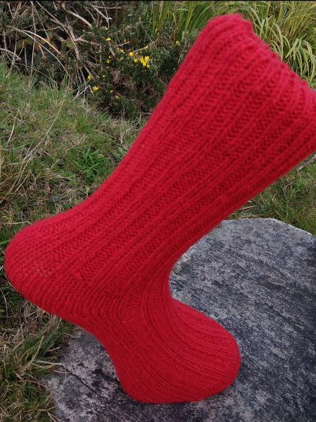 red-walking-socks-glen-river-knitwear-donegal
